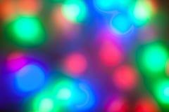 Blurred färbte Lichtgirlanden stockfoto