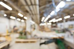 Blurred factory workshop background Stock Photos