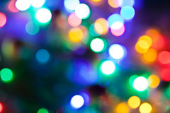 Blurred fairy lights background. Stock Photos