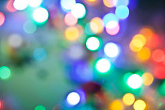 Blurred fairy lights background. Stock Photography