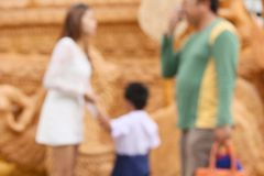 Blurred family Royalty Free Stock Photos