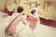 Blurred family Stock Photos