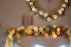 Blurred farbige Kreise auf einem hellen Feiertagshintergrund Lizenzfreie Stockfotos