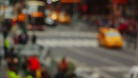 Blurred Fast Street Traffic stock footage