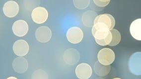 Blurred festive lights stock footage