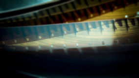 Blurred film reel. Dark blurred 16 mm. film reel Stock Photography