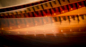 Blurred film reel Royalty Free Stock Images