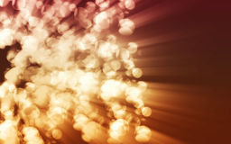 Blurred fire sparkles Stock Photography