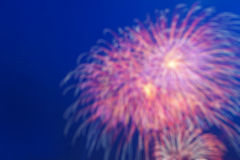 Blurred firework Stock Photo