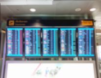 Blurred Flight information display board. For background royalty free stock photos