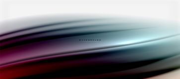 Blurred fluid colors background, abstract waves lines, vector illustration. Blurred fluid colors background, abstract waves lines, mixing colours with light Royalty Free Stock Photography