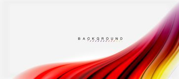 Blurred fluid colors background, abstract waves lines, vector illustration. Blurred fluid colors background, abstract waves lines, mixing colours with light Royalty Free Stock Photo