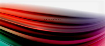 Blurred fluid colors background, abstract waves lines, vector illustration. Blurred fluid colors background, abstract waves lines, mixing colours with light Stock Photo