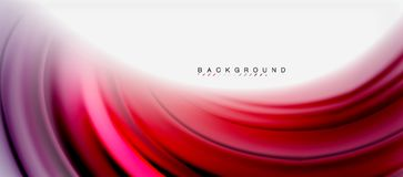 Blurred fluid colors background, abstract waves lines, vector illustration. Blurred fluid colors background, abstract waves lines, mixing colours with light Stock Photos