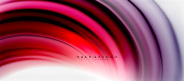 Blurred fluid colors background, abstract waves lines, vector illustration. Blurred fluid colors background, abstract waves lines, mixing colours with light stock illustration
