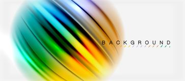 Blurred fluid colors background, abstract waves lines, vector illustration. Blurred fluid colors background, abstract waves lines, mixing colours with light Stock Photography