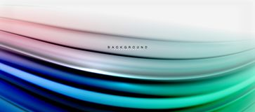 Blurred fluid colors background, abstract waves lines, vector illustration. Blurred fluid colors background, abstract waves lines, mixing colours with light royalty free illustration