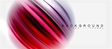 Blurred fluid colors background, abstract waves lines, vector illustration. Blurred fluid colors background, abstract waves lines, mixing colours with light Stock Image