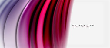 Blurred fluid colors background, abstract waves lines, vector illustration. Blurred fluid colors background, abstract waves lines, mixing colours with light Stock Images