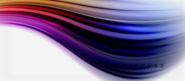 Blurred fluid colors background, abstract waves lines, vector illustration. Blurred fluid colors background, abstract waves lines, mixing colours with light vector illustration