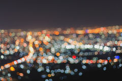 Blurred focus of big city Royalty Free Stock Image