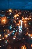 Blurred focus of big city Stock Photos