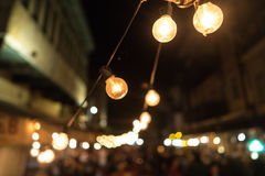 Blurred focus of big city Royalty Free Stock Photography