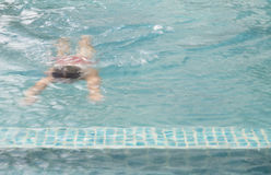 Blurred focus of man is swimming Stock Image