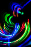 Blurred futuristic abstract background. Of blue, red, yellow colors Royalty Free Stock Photography