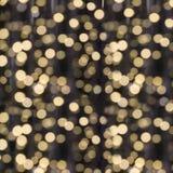 Blurred garland. City light blur bokeh, defocused background. Christmas abstract. Blurred garland. City night light blur bokeh, defocused background. Christmas Stock Photo