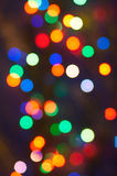 Blurred garland lights Stock Photography