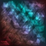 Luminous neon glass background with bokeh effect. Blurred geometric backdrop for bright design Stock Photo