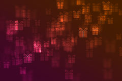 Blurred gift signs defocused background Royalty Free Stock Photos