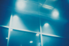 Blurred glass wall lights Royalty Free Stock Photo