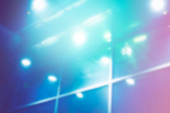 Blurred glass wall lights Royalty Free Stock Photography