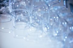 Blurred glasses with bokeh Stock Photo