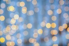 Blurred glden el fondo de las luces Imagenes de archivo