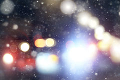 Blurred glowing background snow Royalty Free Stock Photography