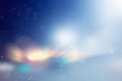 Blurred glowing background snow blurred Stock Images