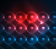 Blurred glowing circles, digital abstract background Royalty Free Stock Images