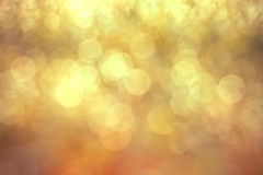 Blurred golden bokeh lighting background Royalty Free Stock Photo