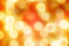 Blurred golden christmas lights Stock Photo