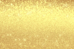Blurred golden shiny background. Christmas mock-up or greeting c Stock Photography