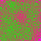 Blurred green circles. Abstract design. Blurred circles of various sizes in green hues on pink background. Abstract background and design royalty free illustration
