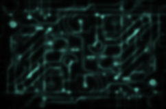Blurred green circuit Royalty Free Stock Image
