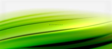 Blurred fluid colors background, abstract waves lines, vector illustration. Blurred green fluid colors background, abstract waves lines, mixing colours with Royalty Free Stock Image