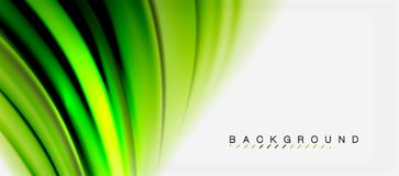 Blurred fluid colors background, abstract waves lines, vector illustration. Blurred green fluid colors background, abstract waves lines, mixing colours with Royalty Free Stock Photo