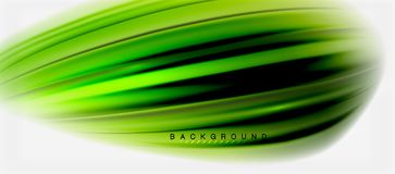 Blurred fluid colors background, abstract waves lines, vector illustration. Blurred green fluid colors background, abstract waves lines, mixing colours with stock illustration