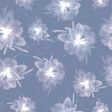 Blurred grungy vintage floral grey seamless background Royalty Free Stock Images