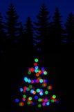 Blurred ha colorato gli indicatori luminosi Fotografia Stock